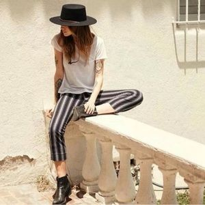 Brandy Melville Tilden Striped Ankle Pants